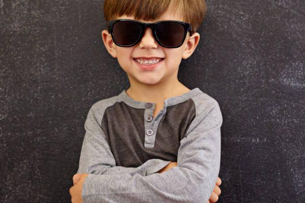 Cool boy in sunglasses